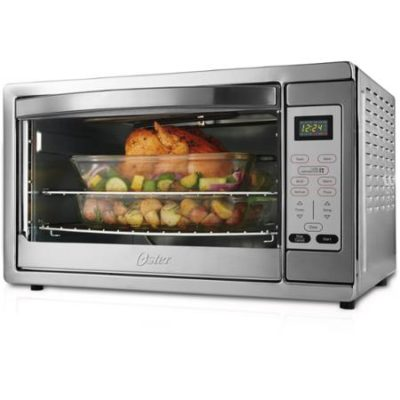 Oster TSSTTVXLDG Extra Large Digital Convection Toaster Oven, Stainless Steel