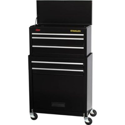 Stanley 5-Drawer Rolling Tool Chest with Bonus 68-piece Mechanics Tools Set STMT74898