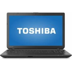 Toshiba Jet Black 15.6″ Satellite C55-B5319 Laptop PC with Intel Celeron N2840 Processor, 4GB Memory, 500GB Hard Drive and Windows 10 Home