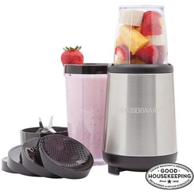 FARBERWARE 17-Piece Rocket Blender, Stainless Steel