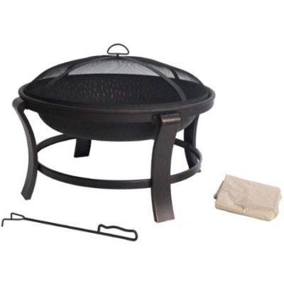 Mainstays Deep 30″ Fire Pit, Antique Bronze