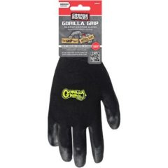BIG TIME PRODUCTS LLC Gorilla Grip Glove, Polymer Coating, Medium