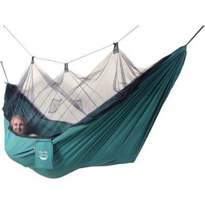 Blue Sky Hammocks Mosquito Net Hammock with Bonus Tree Strap, Green