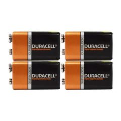 4 Count – Duracell MN1604 9V Volt 6LR61 Duralock Coppertop Alkaline Batteries