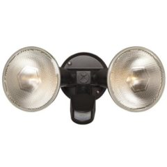 Brinks 110 Degree 2-Head W/O Head Motion Activated Security Light, Bronze