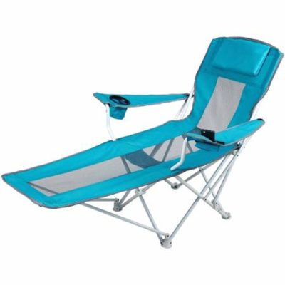 Ozark Trail Reclining Armchair, Teal Blue