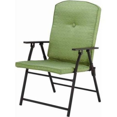 Mainstays Outdoor Padded Folding Chairs, Set of 2, Multiple Colors