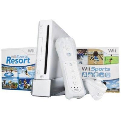 Nintendo Wii Bundle with Wii Sports & Wii Sports Resort – White