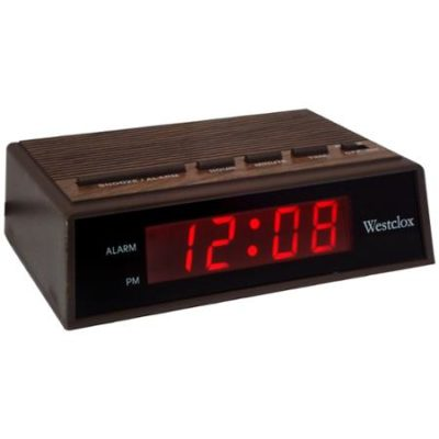 Woodgrain Electric Alarm Clock