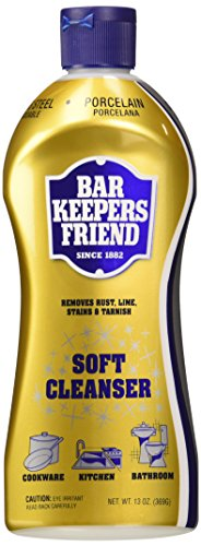 (2 Pack) Bar Keepers Friend Soft Cleanser for Stainless Steel / Porcelain / Ceramic / Tile / Copper – 13 Oz. Each
